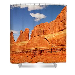 Manhatten In Utah Shower Curtain by Jeff Swan