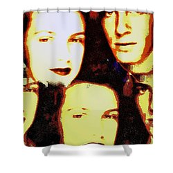 Many Faces Of Betty And Allen Shower Curtain by Marian Hebert