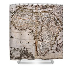 Map Of Africa, 1688 Shower Curtain by Photo Researchers