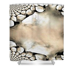 Marble Abstract Shower Curtain by Maria Urso