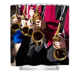 Marching Band Saxophones  Shower Curtain by James BO  Insogna