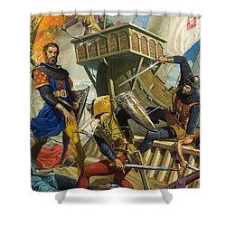 Marco Polo Shower Curtain by Severino Baraldi