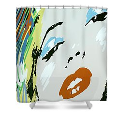 Marilyn In Hollywood Shower Curtain by Micah May