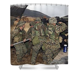 Marines Load A 98-pound High Explosive Shower Curtain by Stocktrek Images
