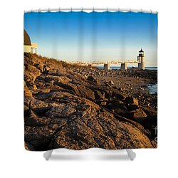 Marshall Point Lighthouse Shower Curtain by Brian Jannsen