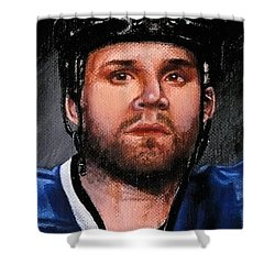 Marty St. Louis Shower Curtain by Marlon Huynh