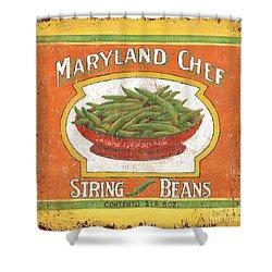 Maryland Chef Beans Shower Curtain by Debbie DeWitt