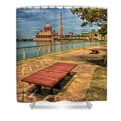Masjid Putra Shower Curtain by Adrian Evans