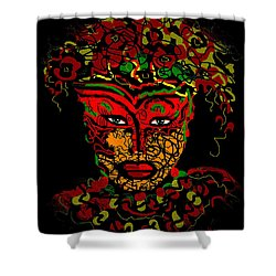 Masked Beauty Shower Curtain by Natalie Holland
