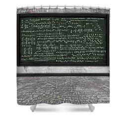 Maths Formula On Chalkboard Shower Curtain by Setsiri Silapasuwanchai