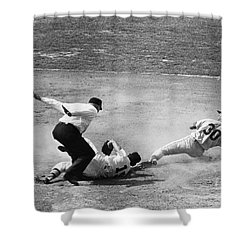 Maury Wills (1932- ) Shower Curtain by Granger