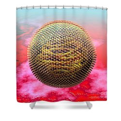 Measles Virus Shower Curtain by Russell Kightley