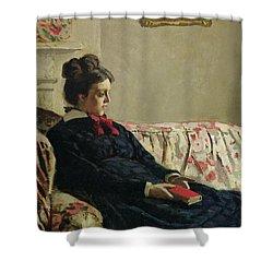 Meditation Shower Curtain by Claude Monet