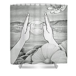 Meditation  Shower Curtain by Irina Sztukowski