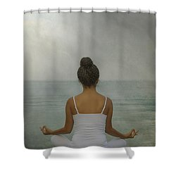 Meditation Shower Curtain by Joana Kruse