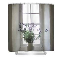 Mediterranean Coast In Provence Shower Curtain by Huy Lam