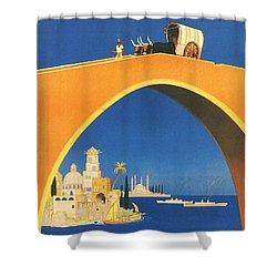 Mediterranean Cruising Shower Curtain by Georgia Fowler