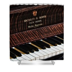 Mehlin And Sons Piano Shower Curtain by Susan Candelario