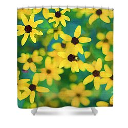 Melody Of Yellow Shower Curtain by Darren Fisher
