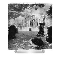 Melrose Abbey Shower Curtain by Simon Marsden