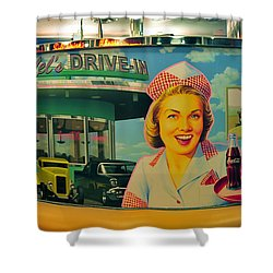 Mels Drive In Shower Curtain by David Lee Thompson