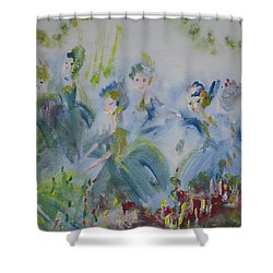 Merry Waltz Shower Curtain by Judith Desrosiers