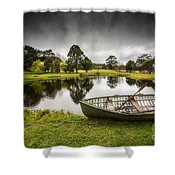 Messing About In A Boat Shower Curtain by Avalon Fine Art Photography