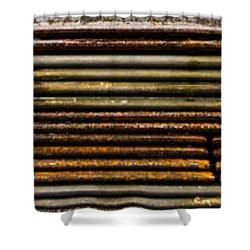 Metal Stripe  Shower Curtain by Jean Noren