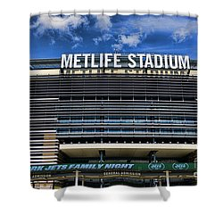 Metlife Stadium Shower Curtain by Paul Ward