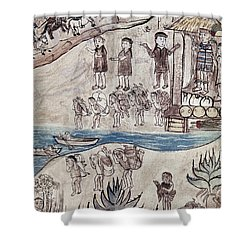 Mexico Indians C1500 Shower Curtain by Granger