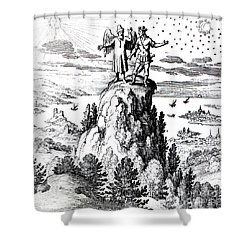 Microcosm, Macrocosm, 17th Century Shower Curtain by Science Source