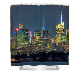 Mid-town Manhattan Twilight I Shower Curtain by Clarence Holmes