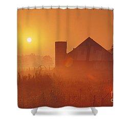 Midwestern Rural Sunrise - Fs000405 Shower Curtain by Daniel Dempster
