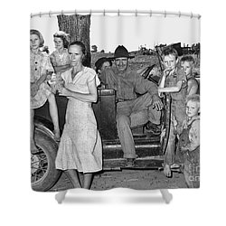Migrant Workers 1939 Shower Curtain by Granger