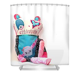 Mika The Original Party Monster Zombie Shower Curtain by Oddball Art Co by Lizzy Love