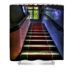 Military Steps Shower Curtain by Nathan Wright