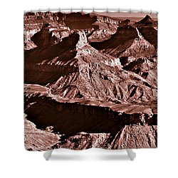 Milk Chocolate Mountains Shower Curtain by Bob and Nadine Johnston