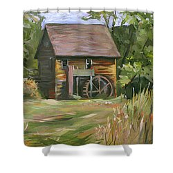 Mill In The Meadow Shower Curtain by Nancy Griswold