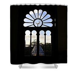 Minaret Through Window Shower Curtain by David Lee Thompson