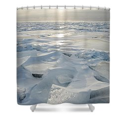 Minnesota, United States Of America Ice Shower Curtain by Susan Dykstra