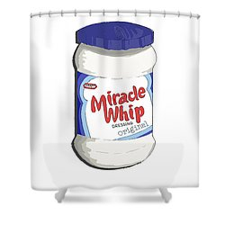 Miracle Whip Shower Curtain by George Pedro