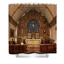 Mission San Carlos Borromeo De Carmelo  11 Shower Curtain by Bob Christopher