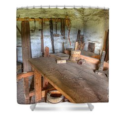 Misssion La Purisima Carpenters Room Shower Curtain by Bob Christopher