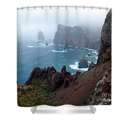Misty Cliffs Shower Curtain by John Chatterley