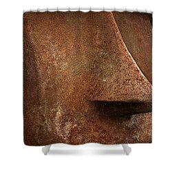 Moai Face Shower Curtain by LeeAnn McLaneGoetz McLaneGoetzStudioLLCcom