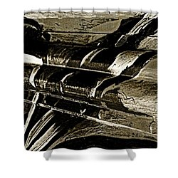 Mobile Graffiti  Shower Curtain by Chris Berry