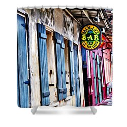Molly's Bar On Toulouse Shower Curtain by Bill Cannon
