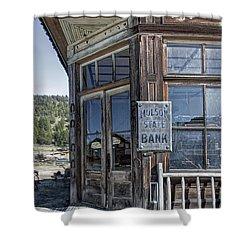 Molson Washington Ghost Town Bank Shower Curtain by Daniel Hagerman