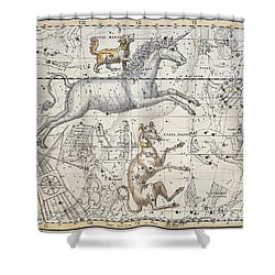 Monoceros Shower Curtain by A Jamieson