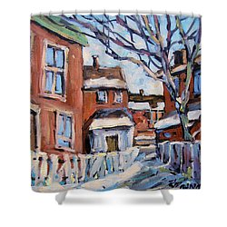 Montreal Scene 03 By Prankearts Shower Curtain by Richard T Pranke